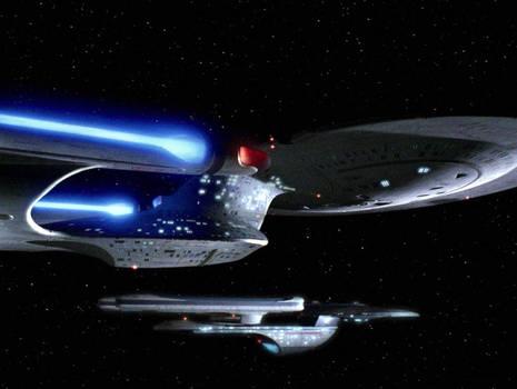 Enterprise D and USS Crazy Horse