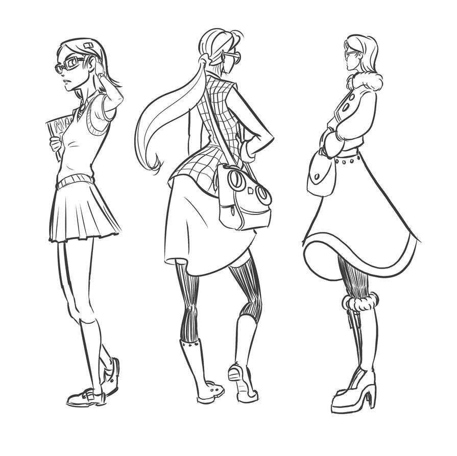 Some ladies by Downbyzed