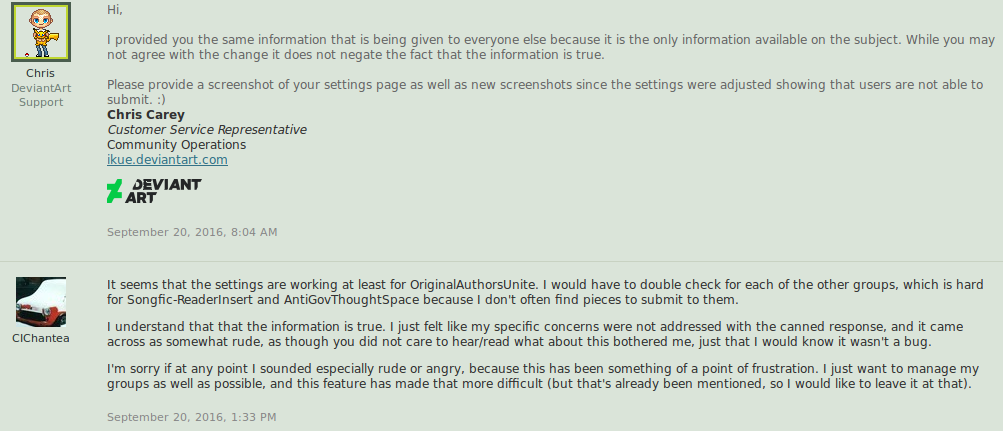 Group Submission Limits and Issues with dA by CIChantea on DeviantArt