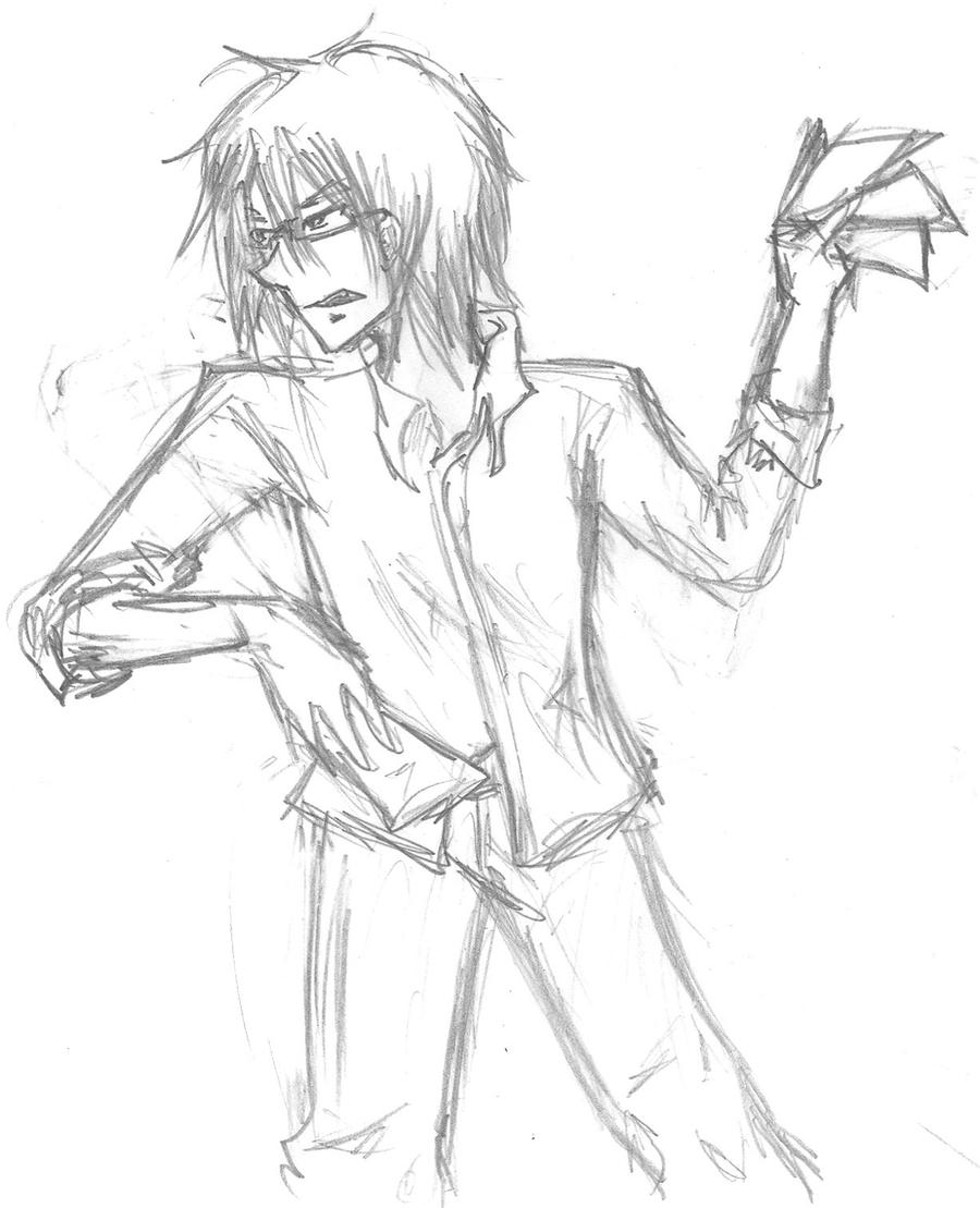 Anime Guy Angry Angry Guy Holding