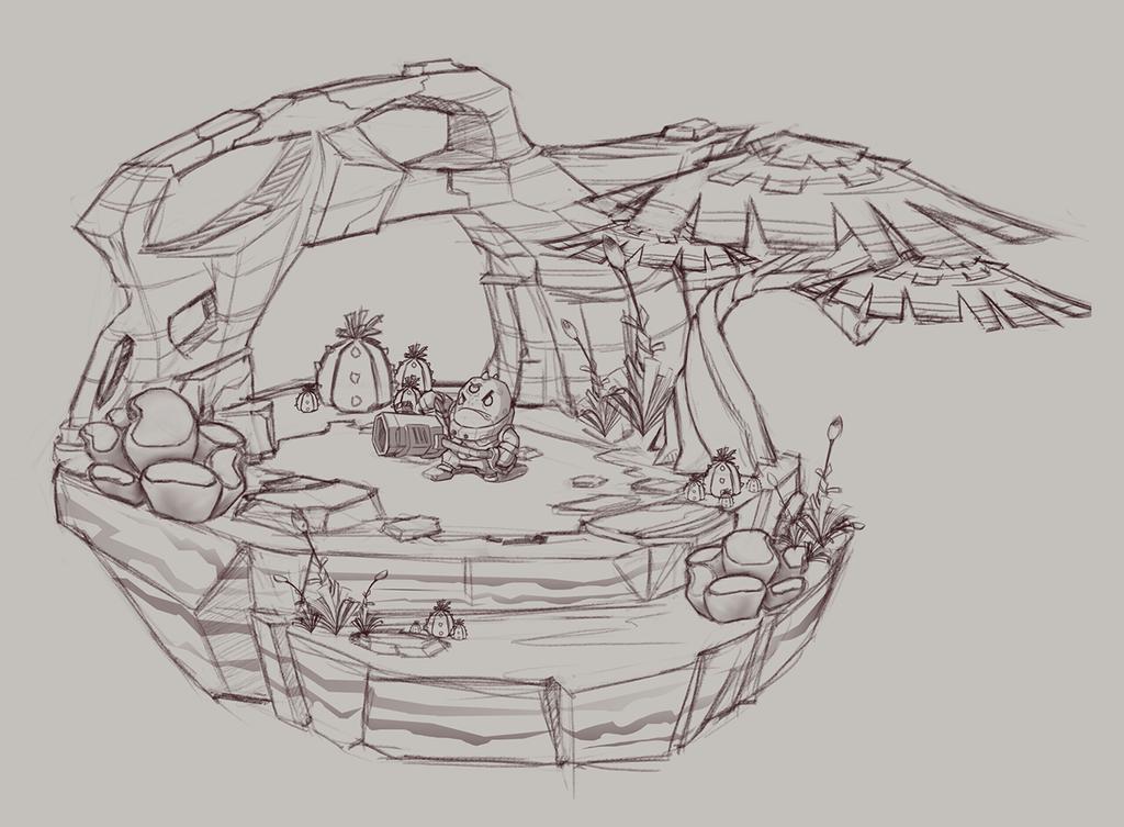 Alien Environment Sketch 2 by ArtVStudio