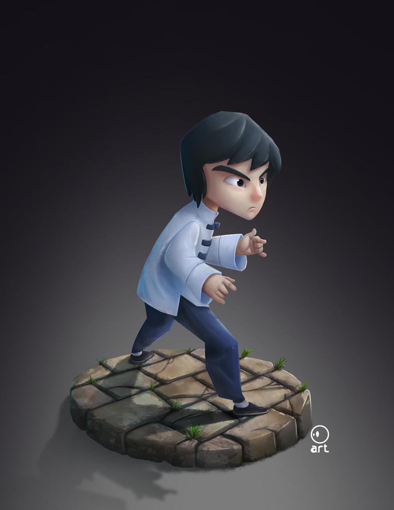 Bruce Lee little big warrior by ArtVStudio