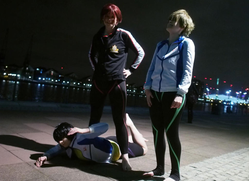 Haru no! You can't swim there! :Free! Cosplay: by CaptainKurfuffle