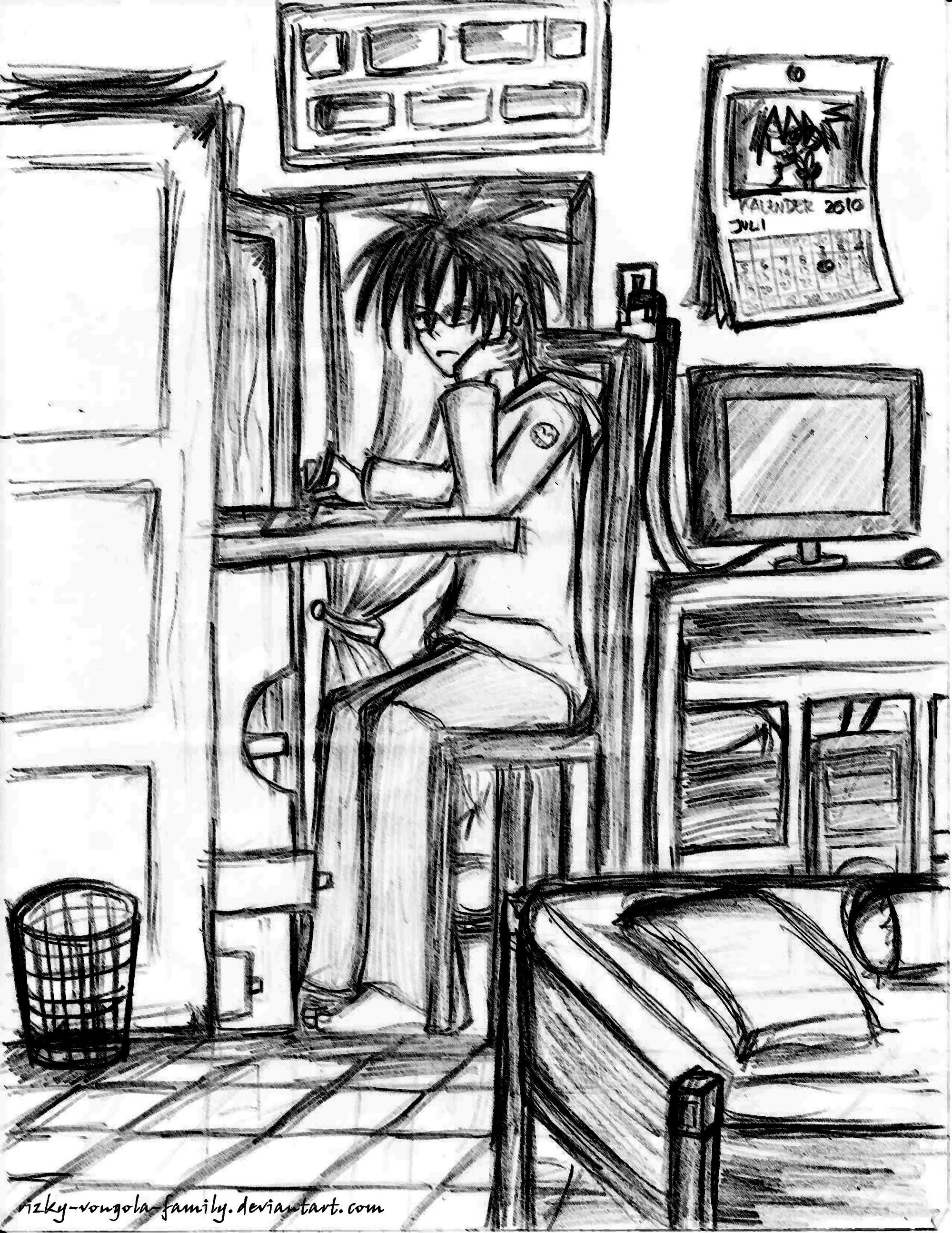 Drawing in my room by rizky vongola family on deviantart for Draw my room