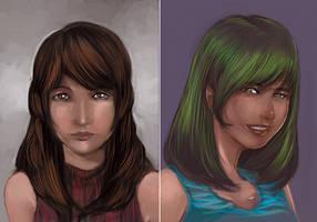 Portrait Practice: Jean and Polaris by RafalLegatus
