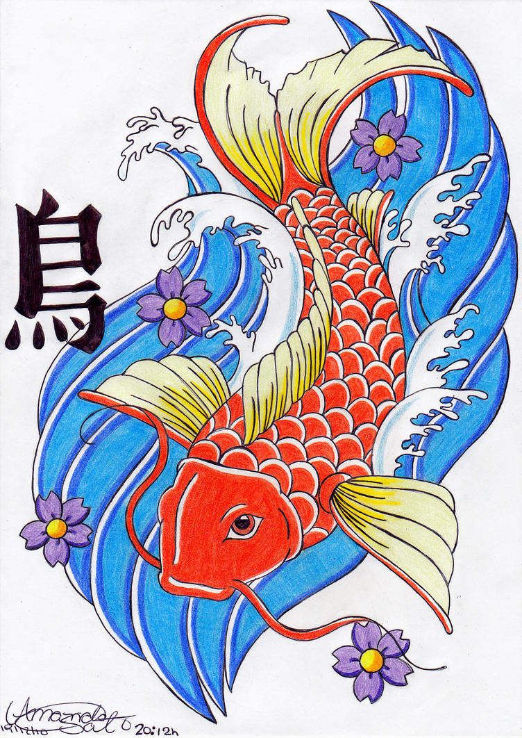 Koi japanese fish by amanda18sato on deviantart for Koi fish artwork