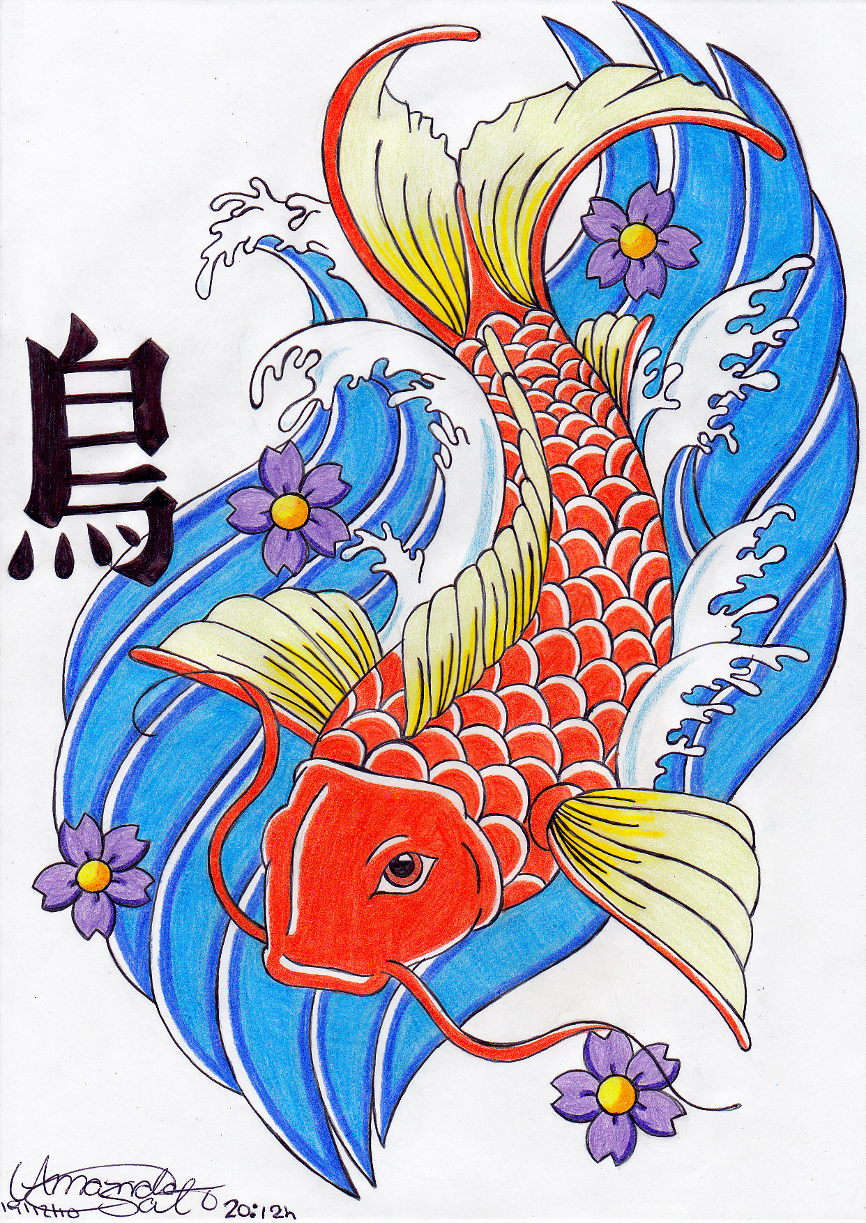 Koi japanese fish by amanda18sato on deviantart for Koi fish framed prints