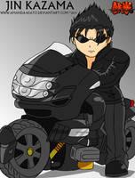 Tekken: Jin in the motorcycle by Amanda18Sato