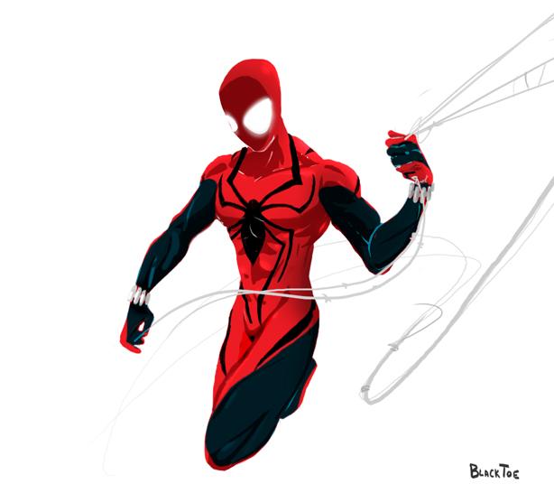 Scarlet Spider Hoodie Drawing