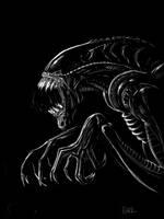 Alien sketch by BlackToe
