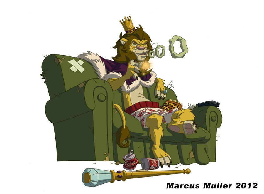 Wicked Incense Sofa King Lion by marcusmuller