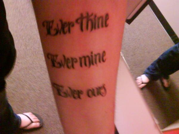 ever thine ever mine ever ours by crazyblackwearer on