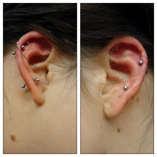 Cartilage And 3rd Lobe Piercings By Brittenjohnson On Deviantart