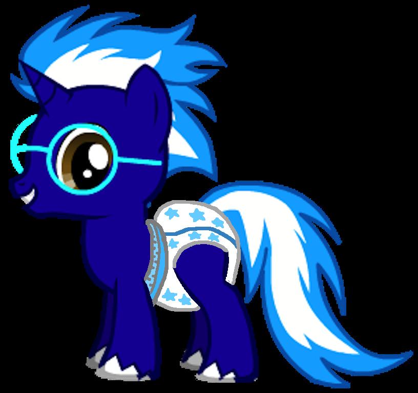 my oc blazin as a colt wearing pull ups age 3 by fluttershyfan77