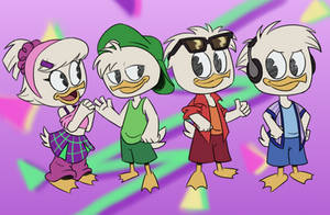 Ducktales 90's Outfits by Itoruna-The-Platypus