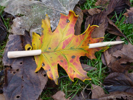 Autumn Oak Leaf Leather Hair Barrette