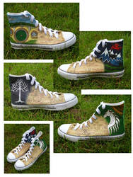 The Hobbit and The Lord of the Rings Shoes by emma-hobbit