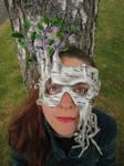 Birch Spirit Leather Mask