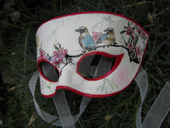 Chinese Painted Leather Mask
