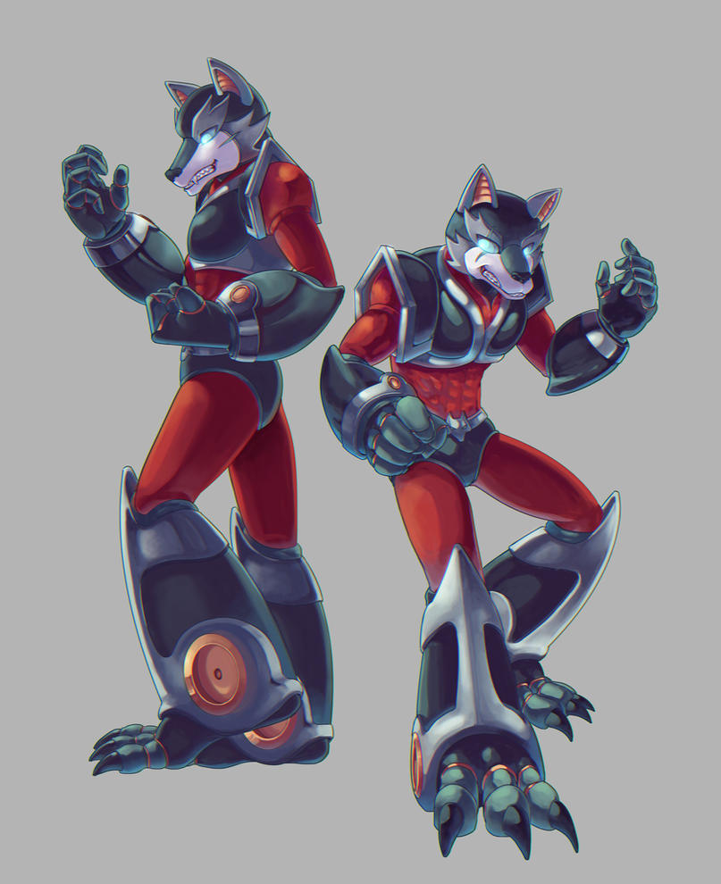 Reploid wolf bro's by wolfboi1