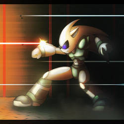 Cyber the Hedgehog - Pew pew!