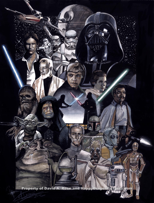 Star Wars Original Trilogy By Happydragonpictures On Deviantart