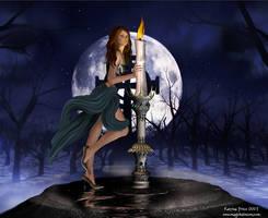 Candle Lit Moon by ashlyn