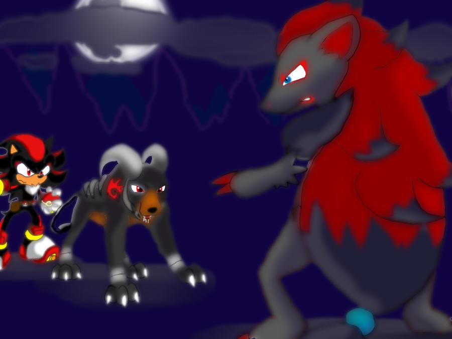 Shadow and houndoom a wild zoroark appeared by - Shadow the hedgehog pokemon ...
