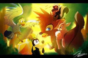 Kingdom Hearts:Let's go find Bambi by SEGAmastergirl