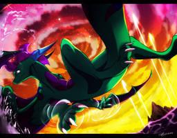 -Gift- Skye the Dragon by SEGAmastergirl