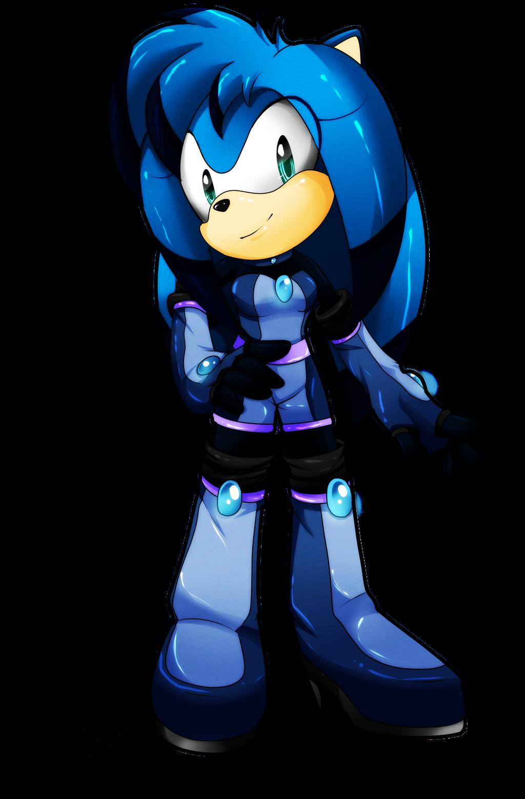 Point Commission: Luna the Hedgehog by SEGAmastergirl
