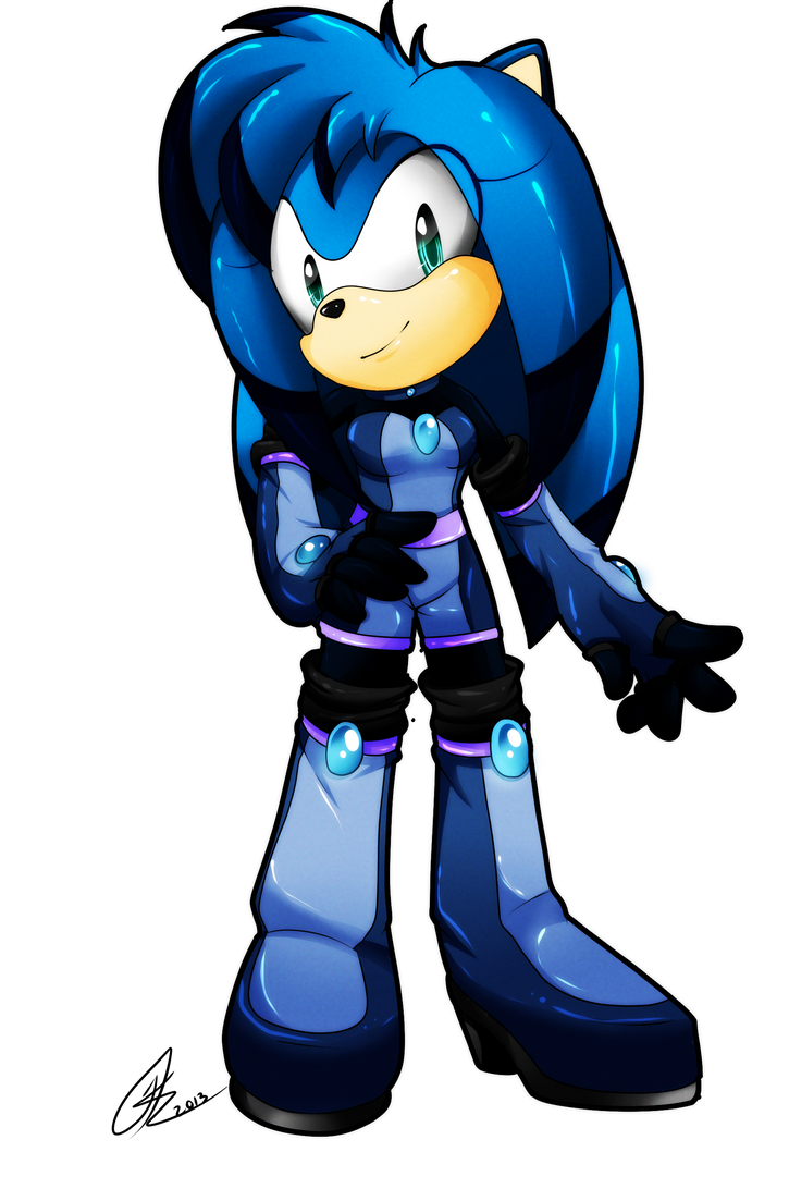 Point Commission: Luna the Hedgehog by SEGAmastergirl