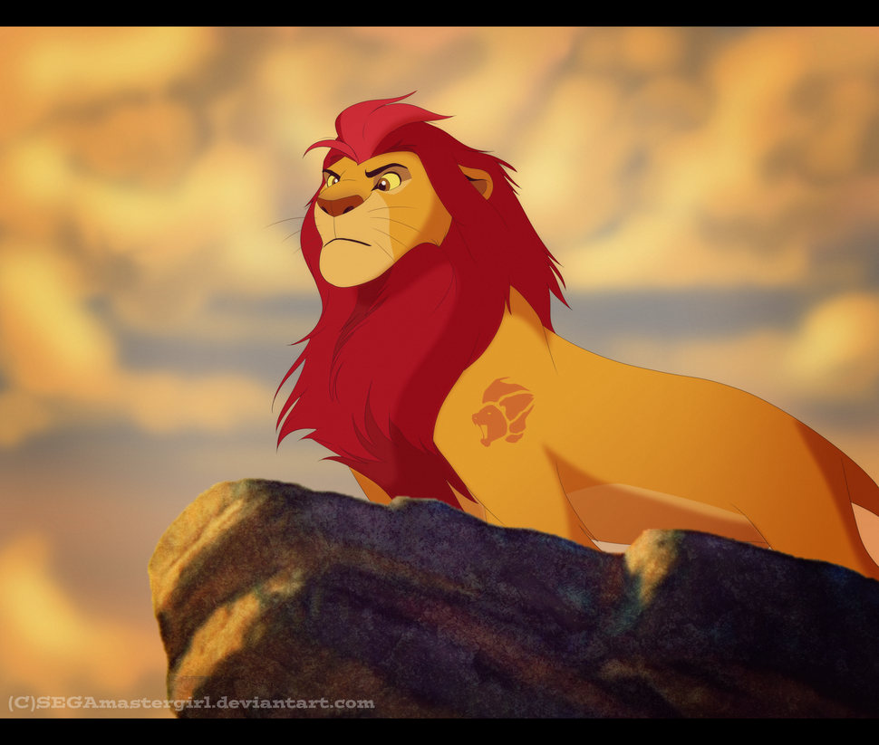 how to draw simba grown up