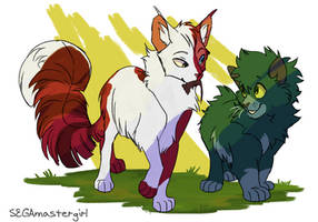 Frostpaw and Mosspaw by SEGAmastergirl