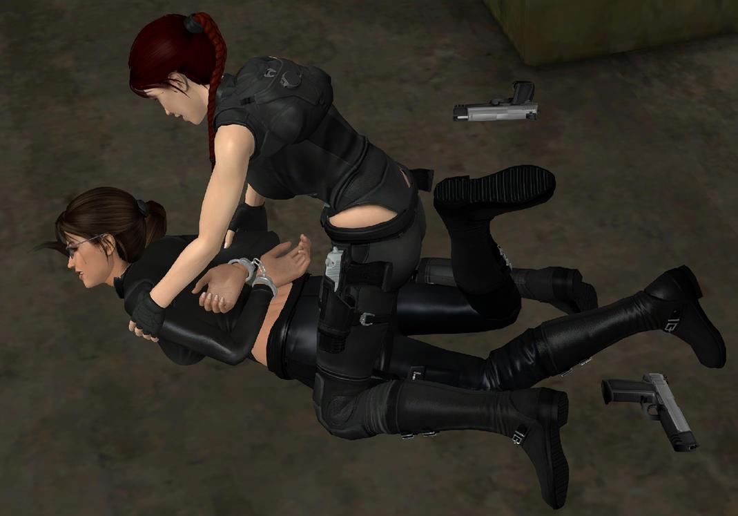 Lara croft tied erotic scene