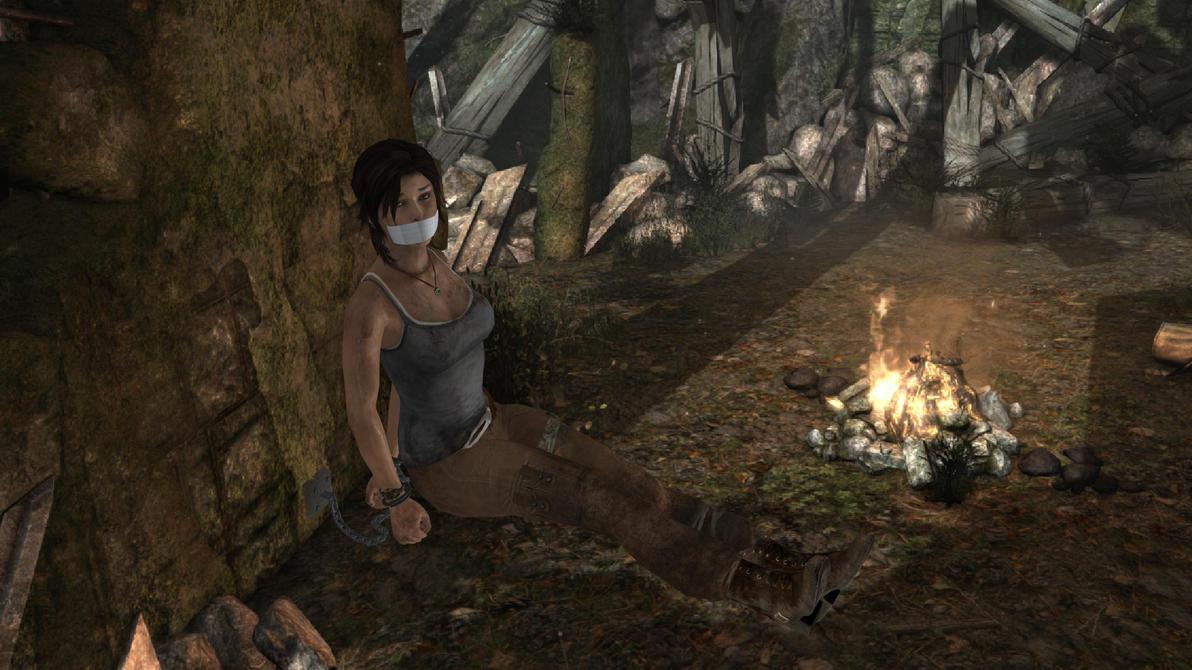 Lara croft tied naked image