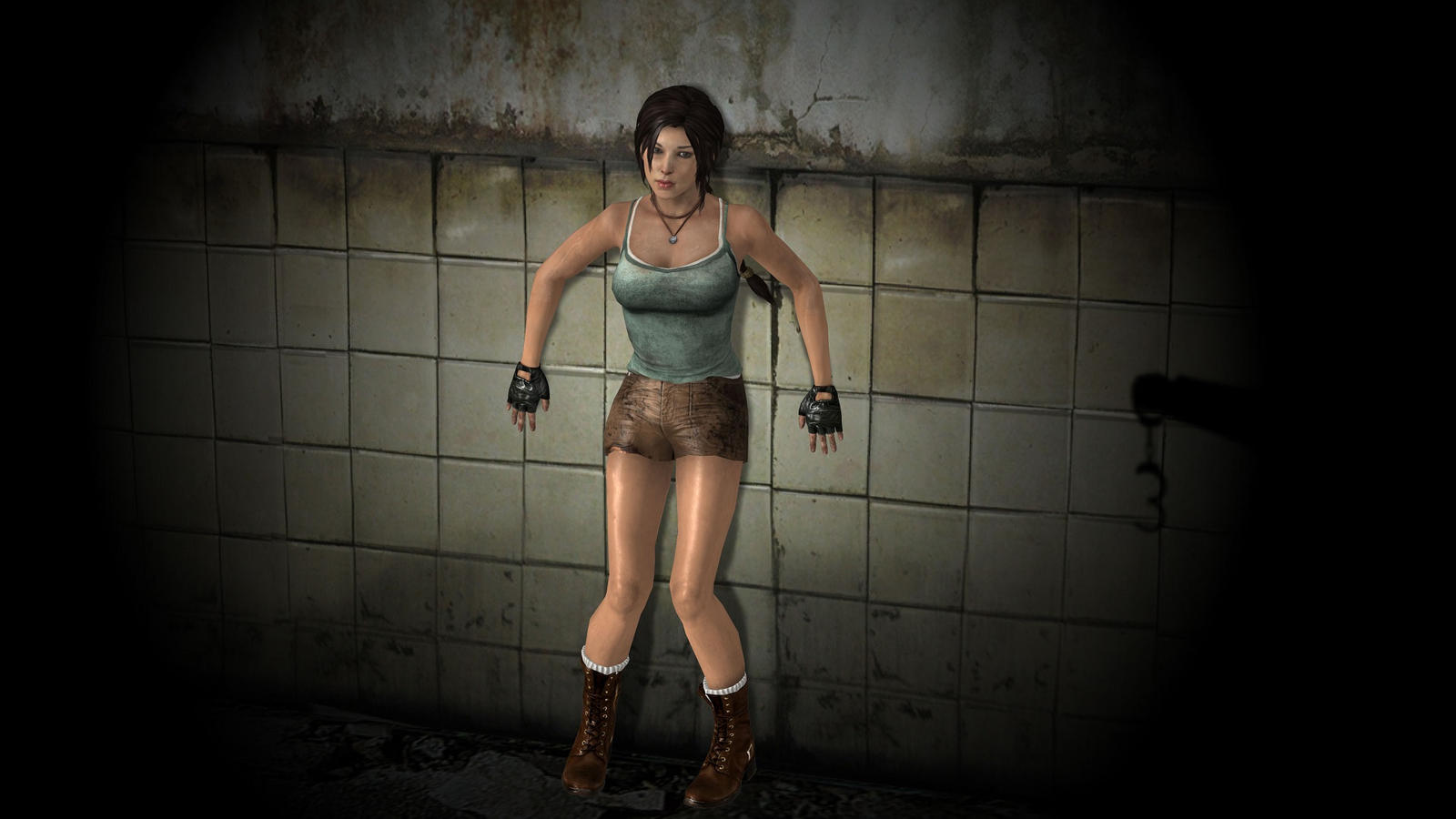 lara croft in trouble