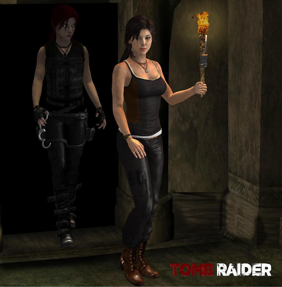 Lara rooftops jumping by honkus2 on DeviantArt