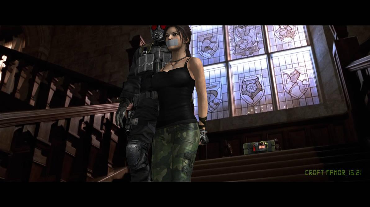 Lara Croft and the charming boys by honkus2 on DeviantArt