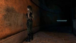 Lara Croft in the caldarium