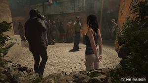 Lara Croft in Cozumel