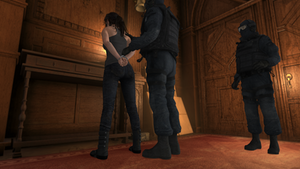 Lara Croft - Jeans and Cuffs