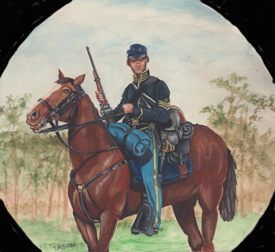 Original Cavalry Painting For Sale