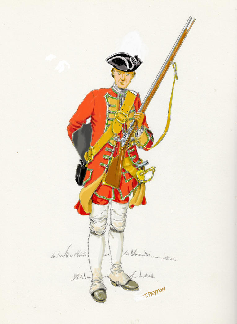 British 48th Regiment of Foot, 1755 by OrlopRat
