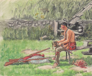 Iroquois at the trading post 1757