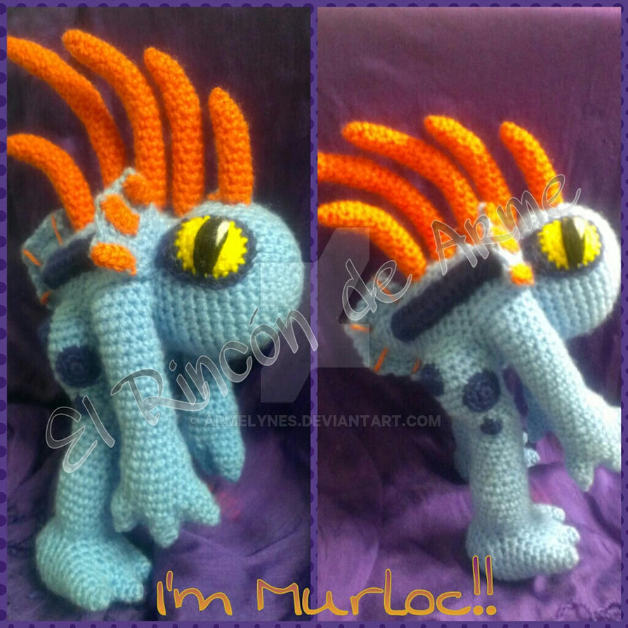 World Of Amigurumi : Amigurumi Murloc (World of Warcraft) by Armelynes on ...