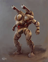 Combat robot 2 by VALVe-man
