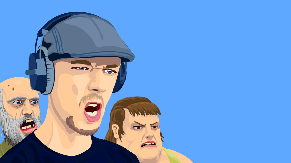 Jacksepticeye and Happy Wheels friends by Yorrit on DeviantArt