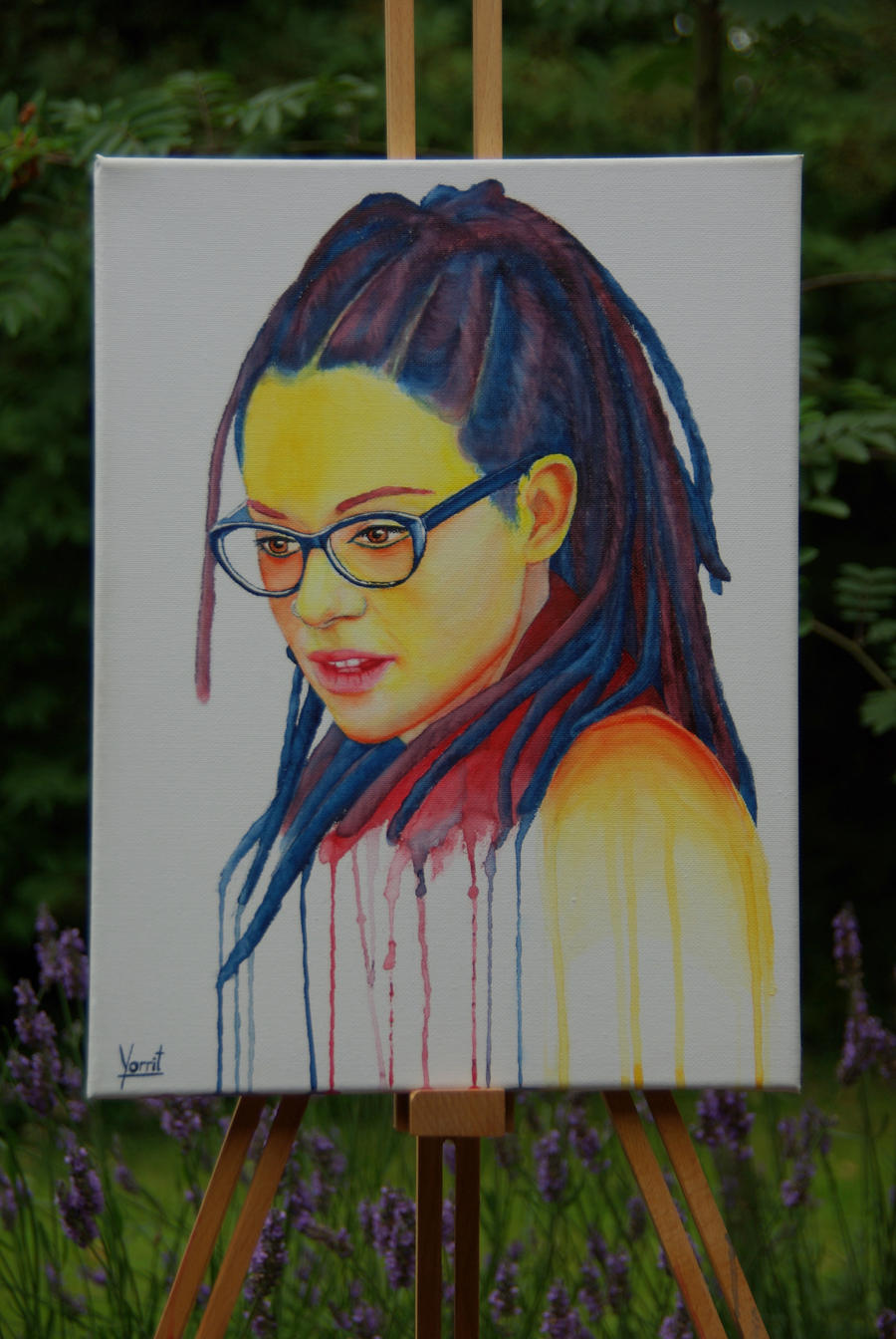 Cosima Niehaus (Orphan Black) watercolour by Yorrit