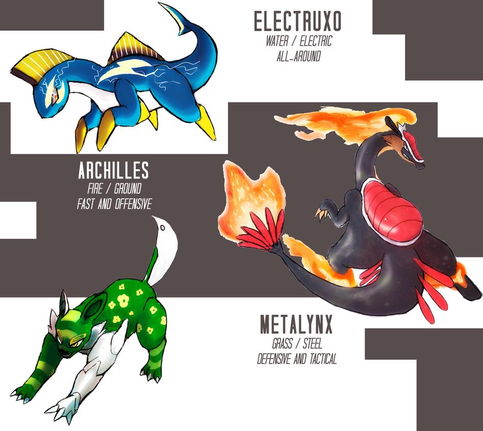 Pokemon Uranium Starters Final Evolution By Yogurtleague On Deviantart